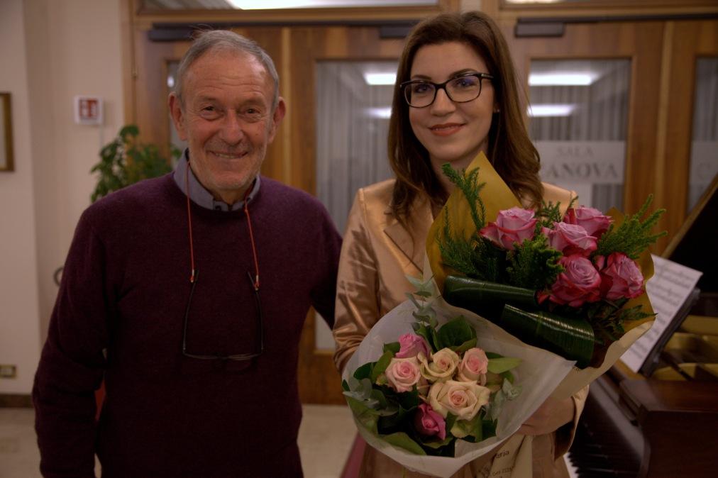 Umberto Curi con Giulia Vazzoler